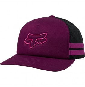 Gorra Chica Fox Head Trik Trucker Dark Purple