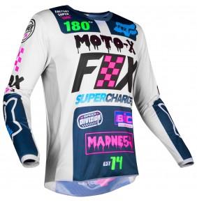 Camiseta FOX 180 Czar Jersey Light Grey 2019