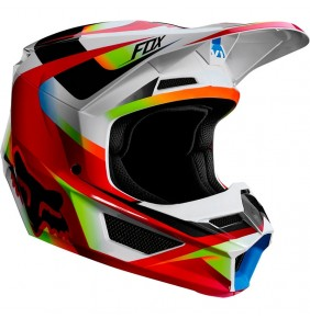 Casco Niño FOX V1 Motif Red / White