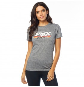 Camiseta Chica Fox Retro Crew Tee Heather Graphite
