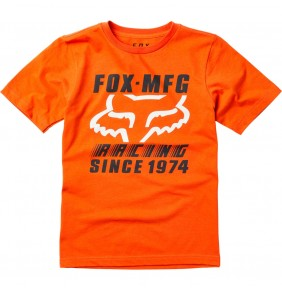 Camiseta Niño Fox Zoomin Cly Orange