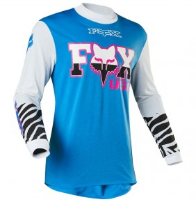Camiseta FOX Retro Zebra Cyan Limited Edition 2020