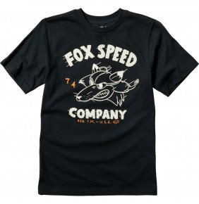 Camiseta Niño Fox Youth Bomber Tee Black