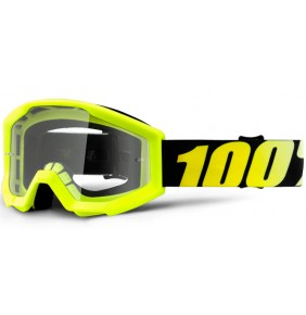Gafas 100% Strata Junior Neon Yellow - Clear Lens