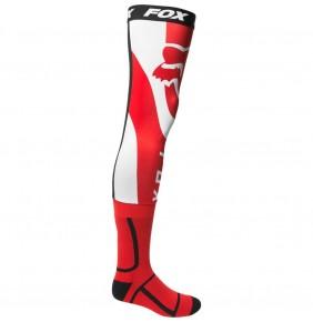 Calcetines FOX Mirer Knee Brace Sock Fluo Red