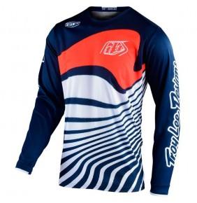 Camiseta Troy Lee Designs GP Drift Navy / Orange