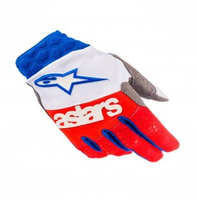 Guantes Alpinestars Racefend White Red Blue 2019