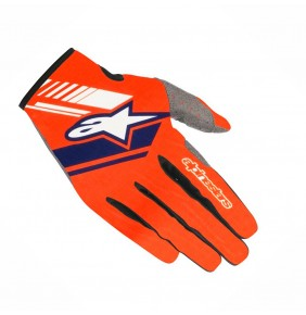 Guantes Alpinestars Neo Orange Fluo / Dark Blue