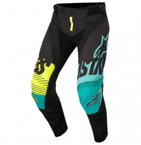 Pantalón Alpinestars Techstar Screamer Black Teal / Yellow Fluo 2018