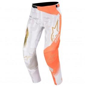 Pantalón Alpinestars Techstar Factory Metal White / Orange Fluo / Gold