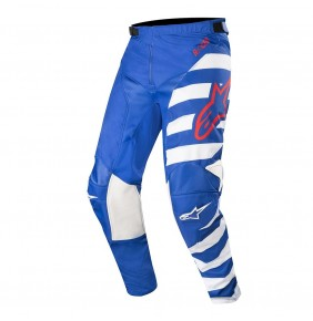 Pantalón Alpinestars Racer Braap Blue / White / Red 2019