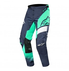 Pantalón Alpinestars Racer Supermatic Dark Navy / Teal/ White 2019