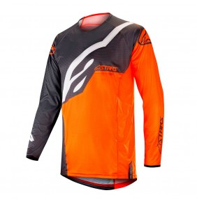 Camiseta Alpinestars Techstar Factory Anthracite / Orange Fluo 2019
