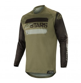 Camiseta Alpinestars Racer Tactical Black / Military Green 2019