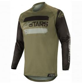 Camiseta Alpinestars Racer Tactical Black / Military Green