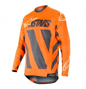 Camiseta Alpinestars Racer Braap Anthracite / Orange Fluo / Sand 2019