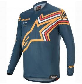 Camiseta Alpinestars Racer Braap Navy / Orange