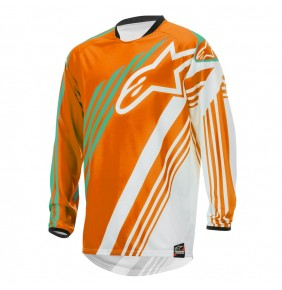 Camiseta Alpinestars Racer Supermatic Orange White Teal