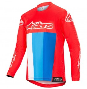 Camiseta Niño Alpinestars Racer Venom Red / White / Blue