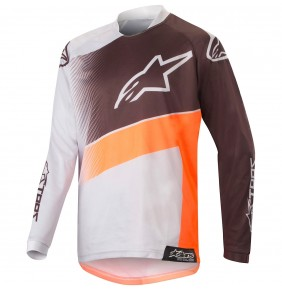 Camiseta Niño Alpinestars Racer Supermatic Gray / Orange Fluo / Black