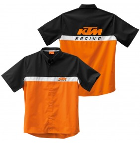 Camisa KTM Team Shirt Black Orange