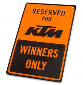 Cartel de Chapa KTM Parking Plate