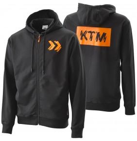 Sudadera Capucha KTM Radical Zip Hoodie Black 2020
