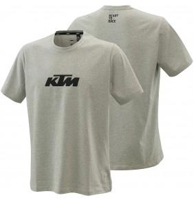 Camiseta KTM Pure Logo Tee Grey Melange 2021