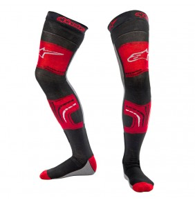 Calcetines Alpinestars Knee Brace Socks Red Black Grey