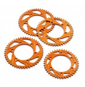 Corona Trasera KTM Aluminio Naranja