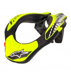 Collarín Niño Alpinestars Youth Neck Support Black / Yellow Fluo