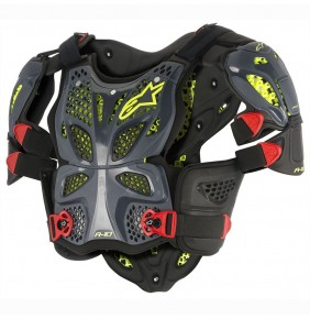 Peto Alpinestars A-10 Full Chest Protector Anthracite Black Red