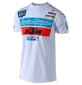 Camiseta KTM Troy Lee Designs Team White