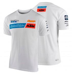 Camiseta KTM Troy Lee Designs Team White