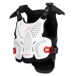 Peto Alpinestars A-4 Chest Protector White Black Red