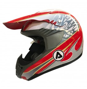 Casco Acerbis Impact Fibra Red