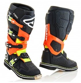Botas Acerbis X-Rock Black / Orange Fluo 2018
