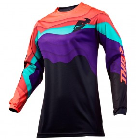 Camiseta Chica Thor Pulse Depths Black / Coral Jersey 2019