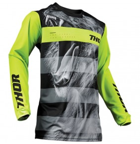 Camiseta Niño Thor Pulse Savage Big Kat Black / Lime