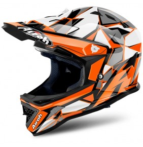 Casco Niño Airoh Archer Chief Orange Gloss
