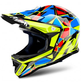 Casco Niño Airoh Archer Chief Blue Gloss