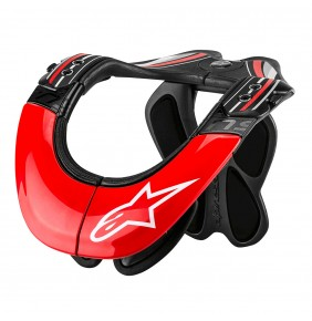 Collarin Alpinestars BNS TECH Carbon Anthracite Red White