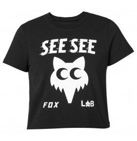 Camiseta Fox Womens & SEE SEE Top Black Limited Edition