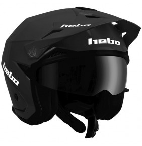 Casco Jet Hebo Zone 5 Monocolor Black