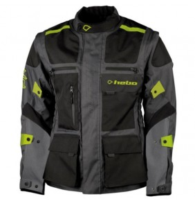 Chaqueta Impermeable Hebo Cross Over Black / Lime