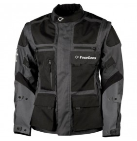 Chaqueta Impermeable Hebo Cross Over Black