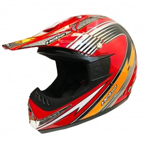 Casco HEBO Red/Silver