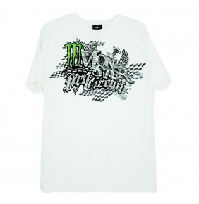 Camiseta Monster Pro Circuit Zibra White