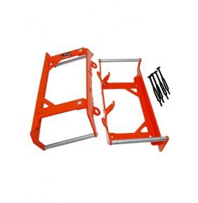 Protector Radiador 4MX KTM SX/SX-F 125-450 16-17 EXC-F Naranjas