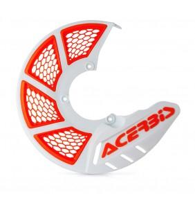 Protector Disco Delantero Acerbis X-Brake 2.0 Vented Blanco / Naranja